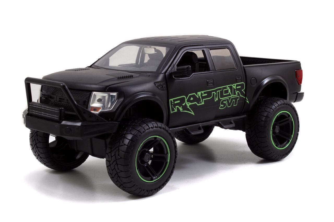 Diecast car accessory package 2011 ford svt raptor pickup green detail jada 97479 scale diecast model toy car w display case