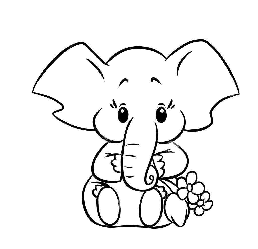 Elephant Coloring Sheet Printable