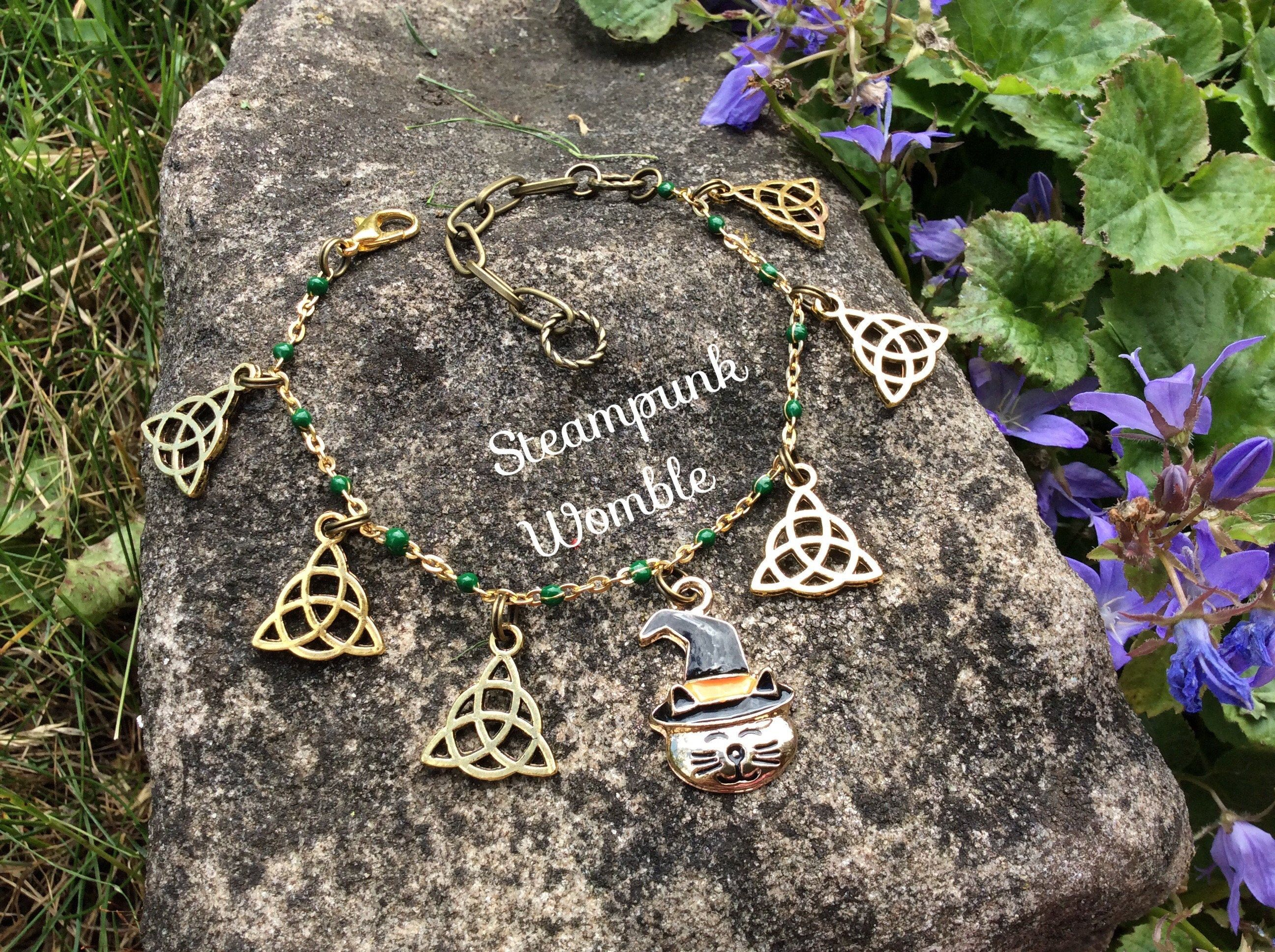Tree of Life Pentacle jewellery Gift for a witch Autumn style Wiccan charm bracelet Pagan jewelry Nature inspired Witchy things
