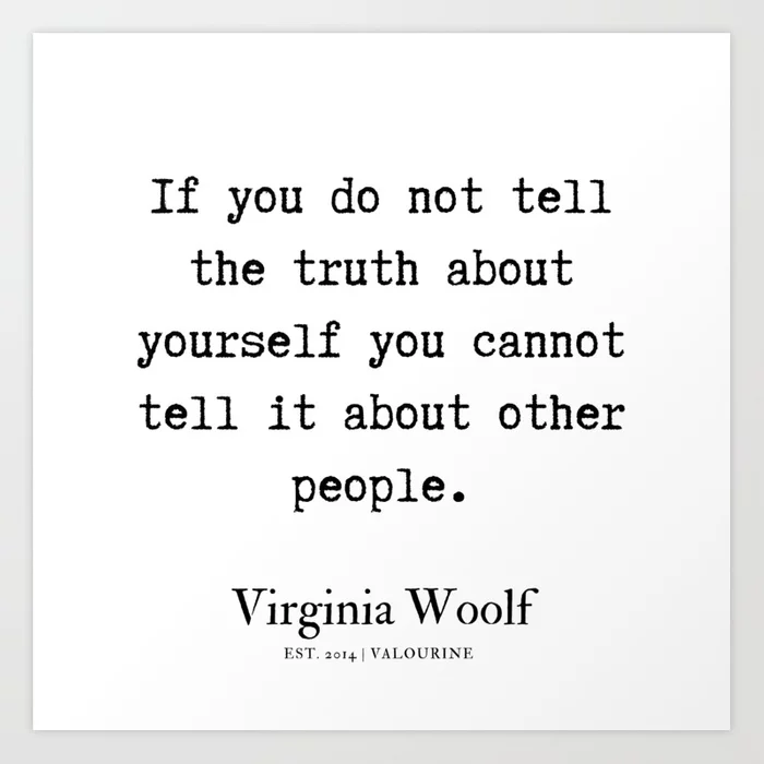 25    | Virginia Woolf Quotes| 190629 Art Print by Quotes And Sayings