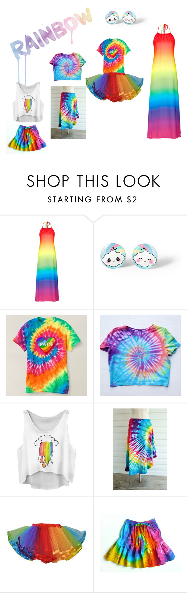 """""""Rainbow!!!!"""" by minime1006 ❤ liked on Polyvore featuring Hudson Jeans and Topshop"""