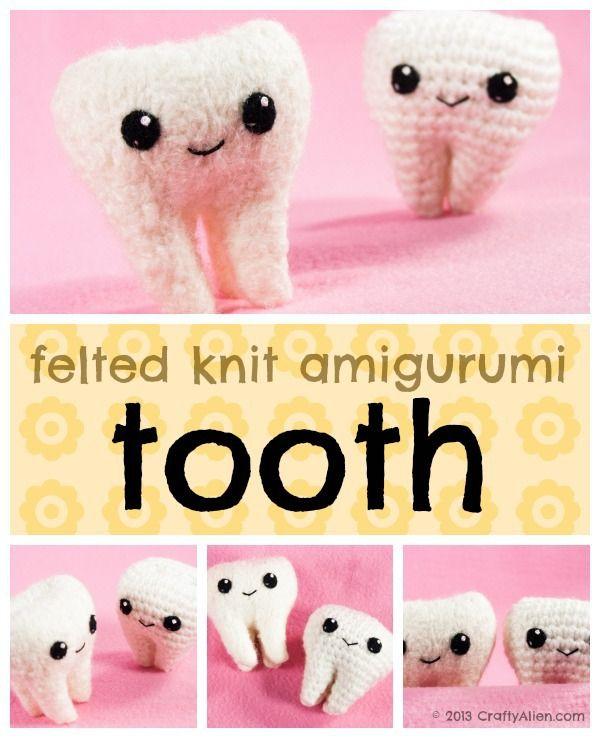 Felted Knit Amigurumi Tooth Pattern Amigurumi Teeth And Felting