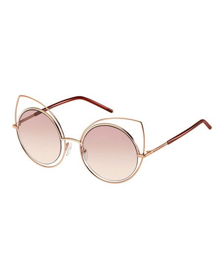 b6bb3f7328 Marc Jacobs Metal-Rim Gradient Cat-Eye Sunglasses