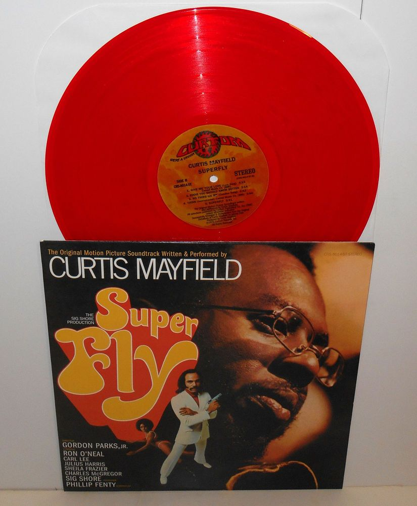 Curtis Mayfield Super Fly Lp Record Limited Red Vinyl