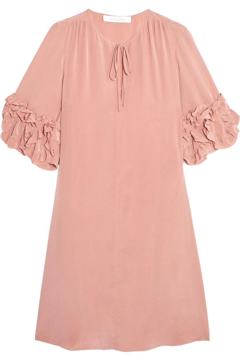 78aea80a See by Chloé | Ruffled silk mini dress | NET-A-PORTER.COM ...