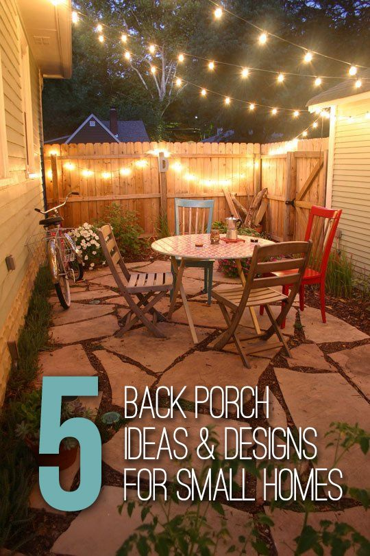 5 Back Porch Ideas & Designs For Small Homes | Backyard ... on Small Back Deck Decorating Ideas id=29664
