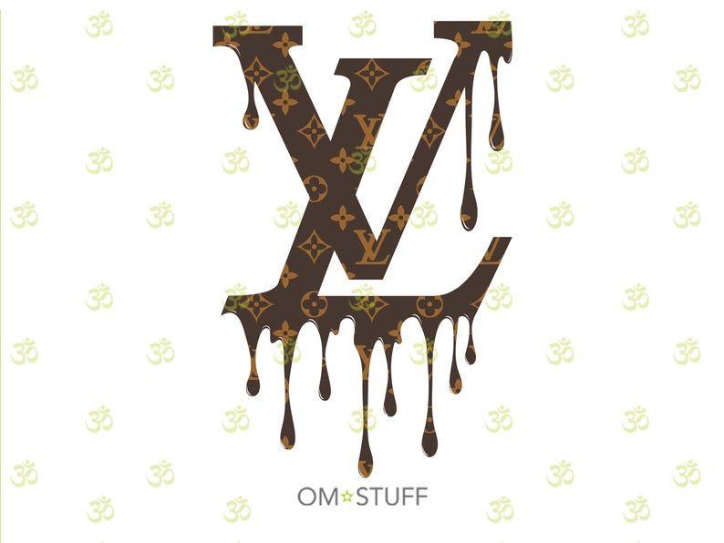 Lv Inspired Drip Logo Design Louis Vuitton Inspired Drip Logo Etsy Logo Design Drip Art Logo Design Inspiration