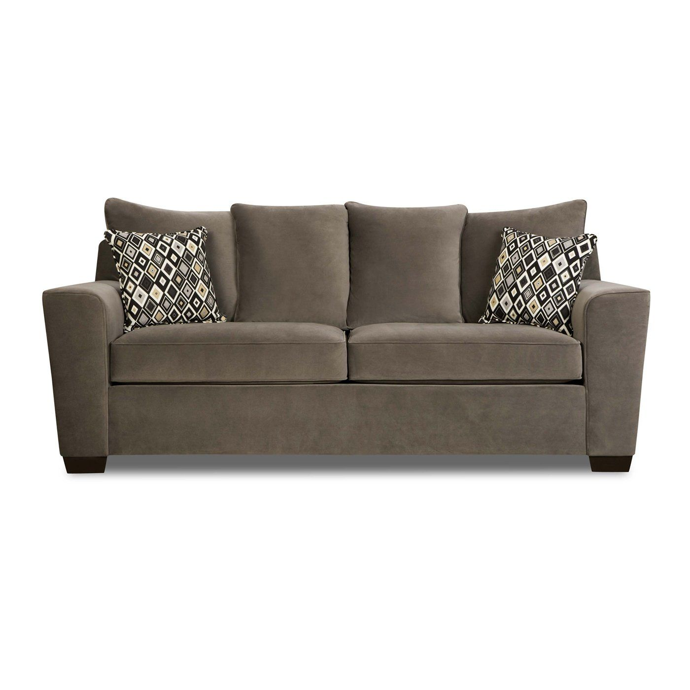 904 Simmons Upholstery 9070 Queen Sleeper Roxanne Gunsmoke Simmons Sleepers Queen Sleeper Home Furniture Showroom With Images Sofa Sofa Bed Sale Best Sleeper Sofa