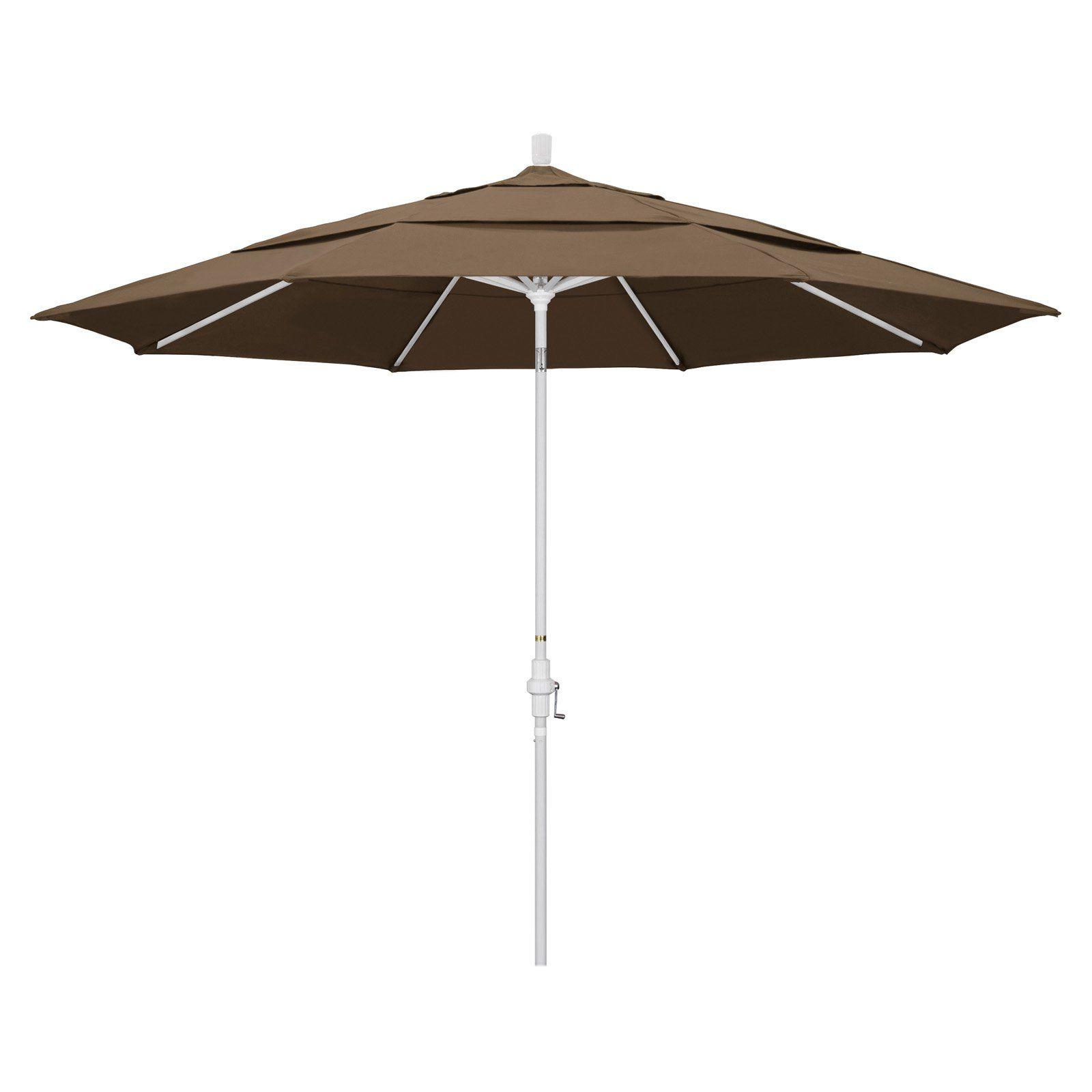 California Umbrella 11 Ft Aluminum Sunbrella Market Umbrella Cocoa California Umbrella Patio Umbrella Market Umbrella