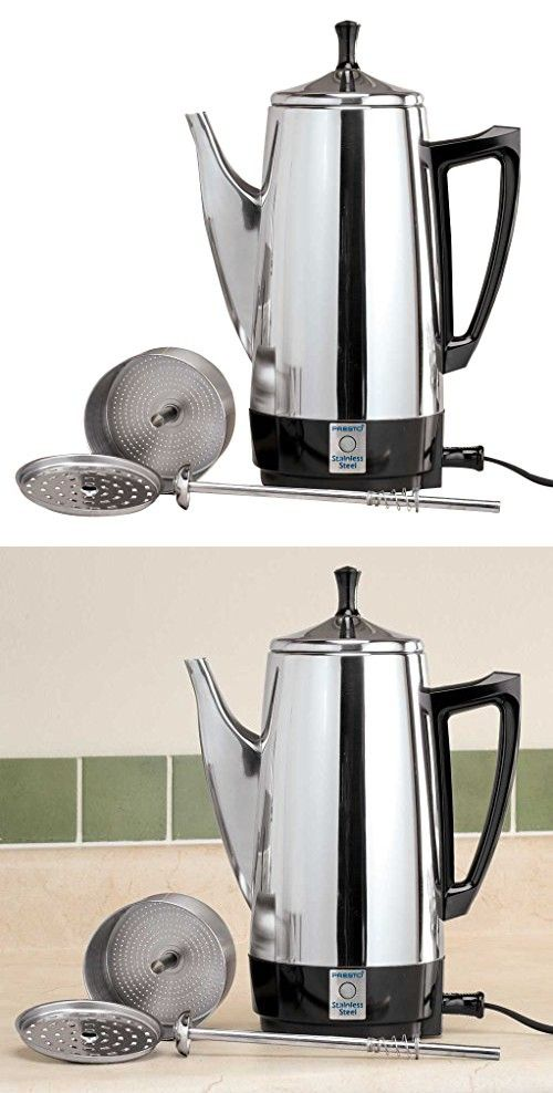 Walterdrake Presto Stainless Steel Percolator Stainless Steel