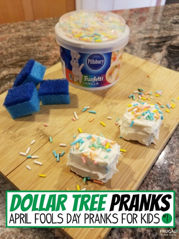 Best Funny Pranks Dollar Tree April Fools Pranks Sponge Cake Recipe - 13 Dollar Tree April Fools Pranks for the Kids  #FrugalCouponLiving #dollartree #dollarstore #aprilfoolsday #aprilfoolsdaypranks #pranks #cleanpranks #aprilsfoolsdayideas #kidspranks #dollarstorecrafts #dollartreecrafts #spongecake 10