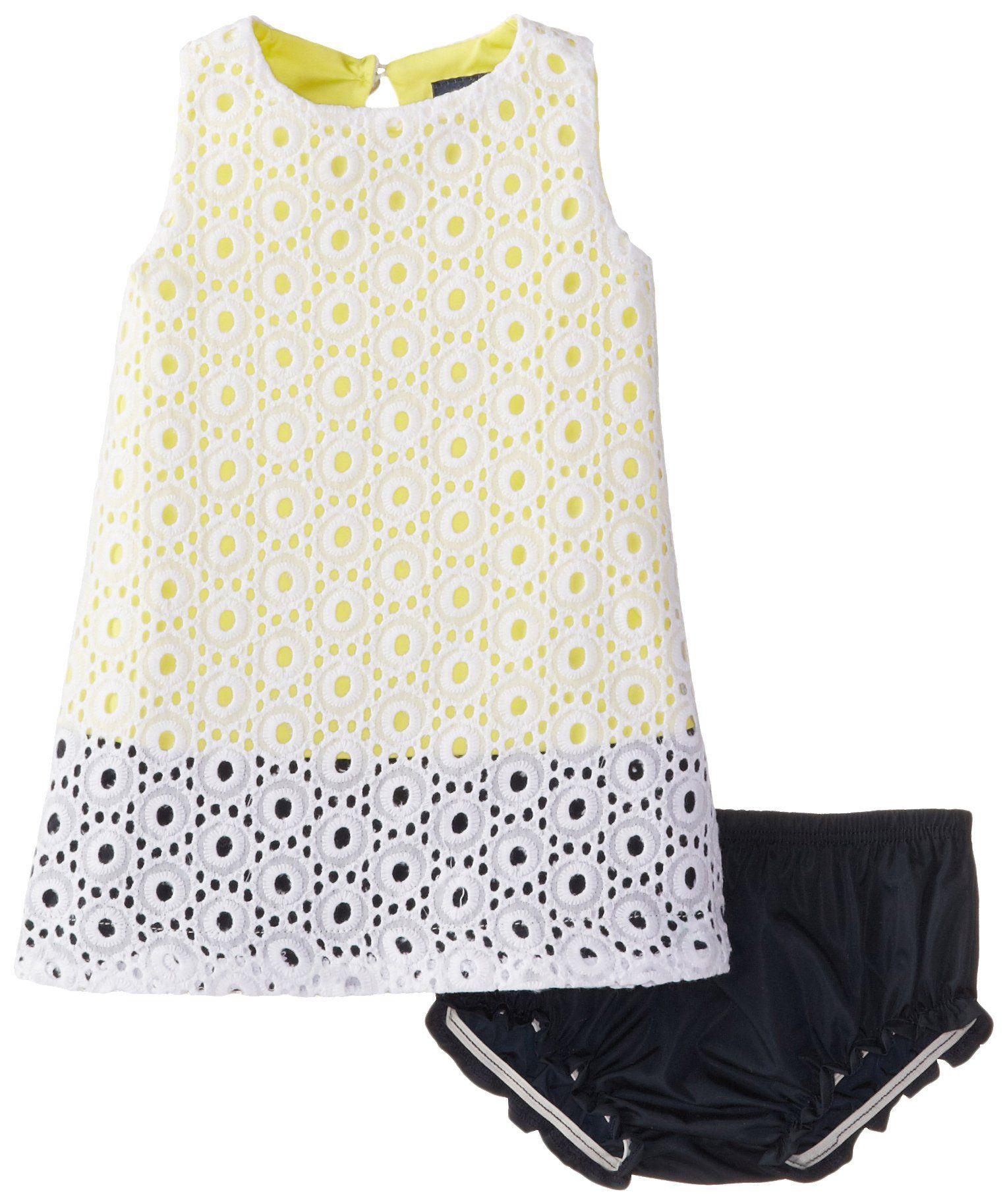 Yellow dress 3-6 months  Andy u Evan BabyGirls Newborn Eyelet Dress Yellow  Months