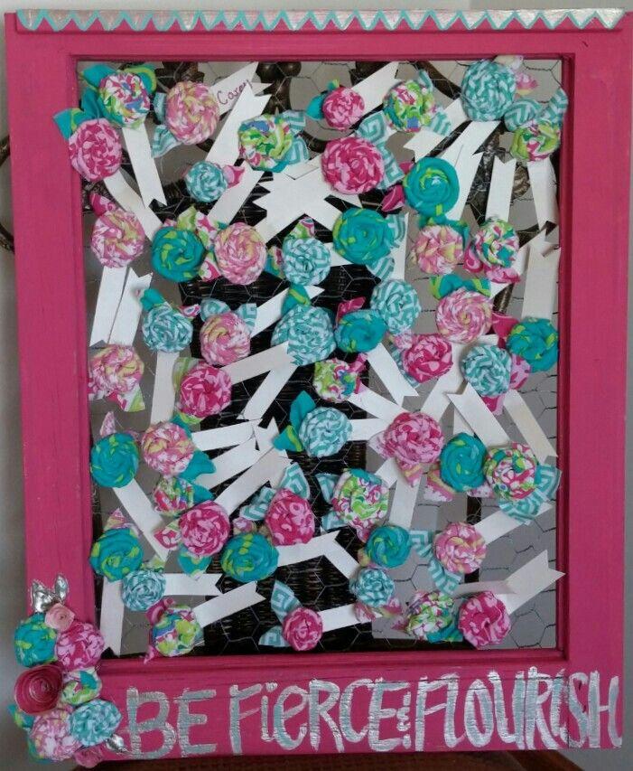Mops fierce flourishing rosette name tags and display