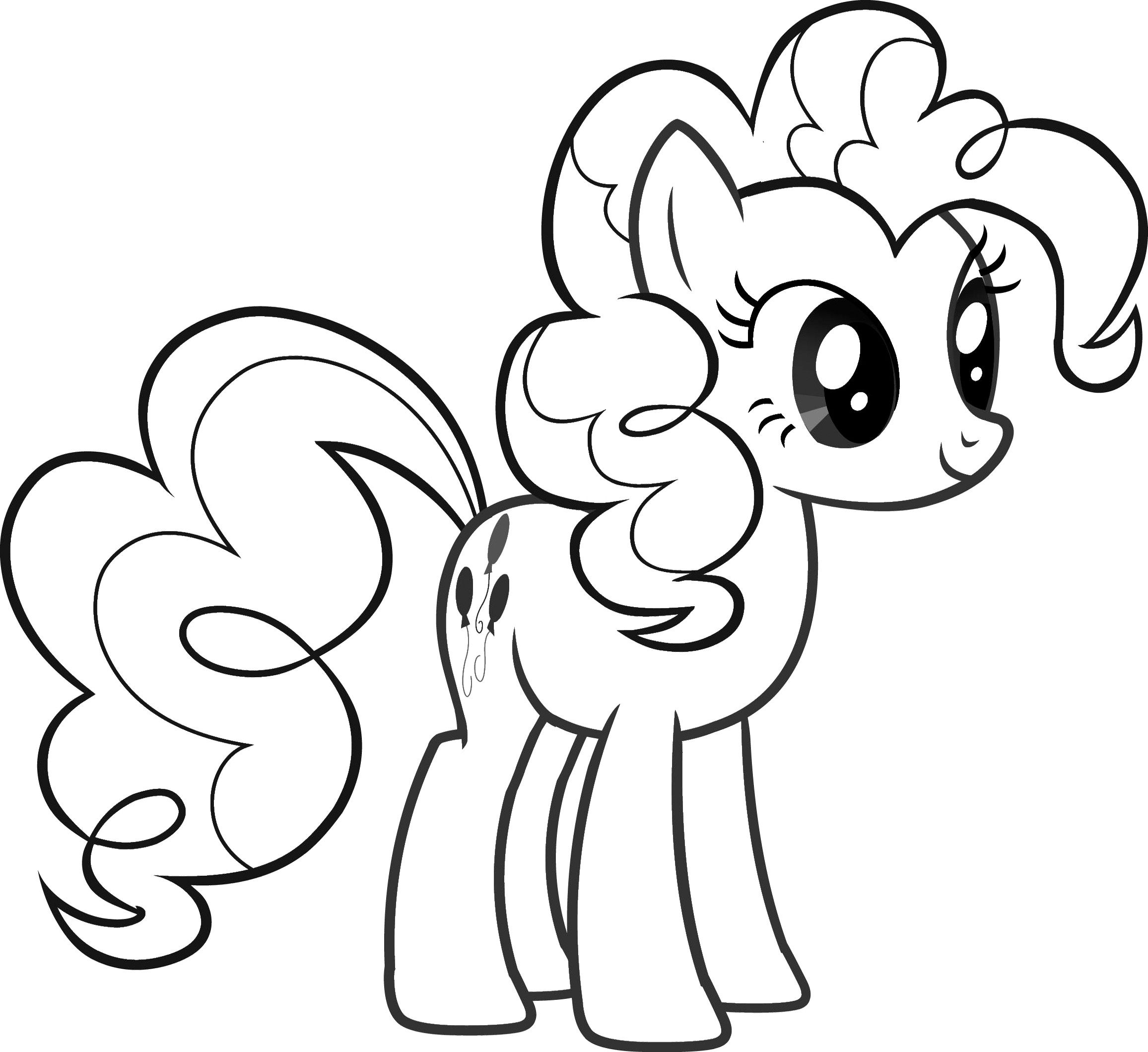 Pinkie Pie My Little Pony Coloring Pages Templates Pinterest