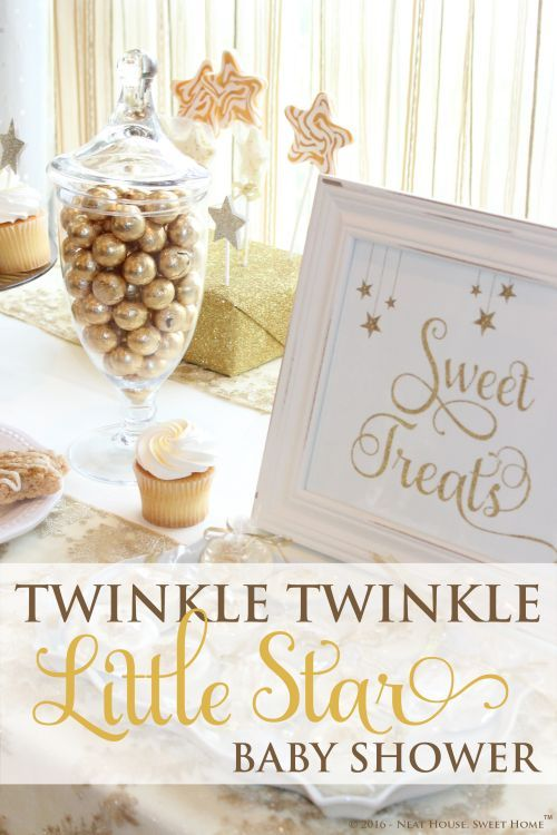 A Beautifully Styled Gender Neutral Twinkle Twinkle Little Star Baby Shower  With A Color Palette Of