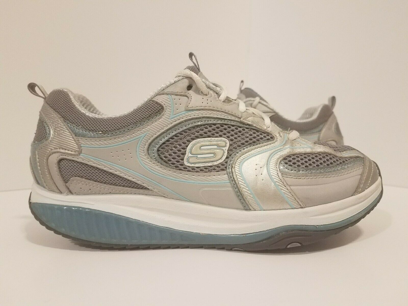 Skechers Shape Ups Women's Sz 9.5 Sneakers Shoes Gray White