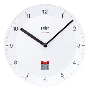 BRAUN Radio Controlled Wall Clock BNC006WHWH