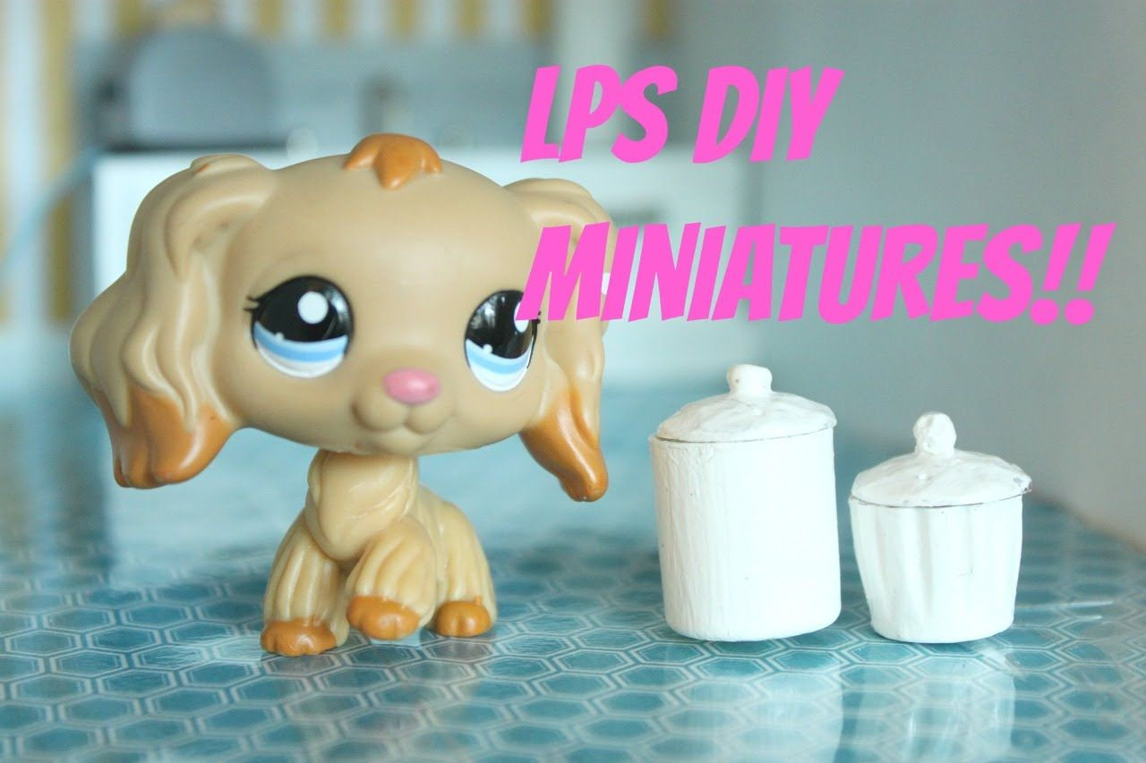 LPS DIY How to make miniature Kitchen containers for LPS Littlest ...
