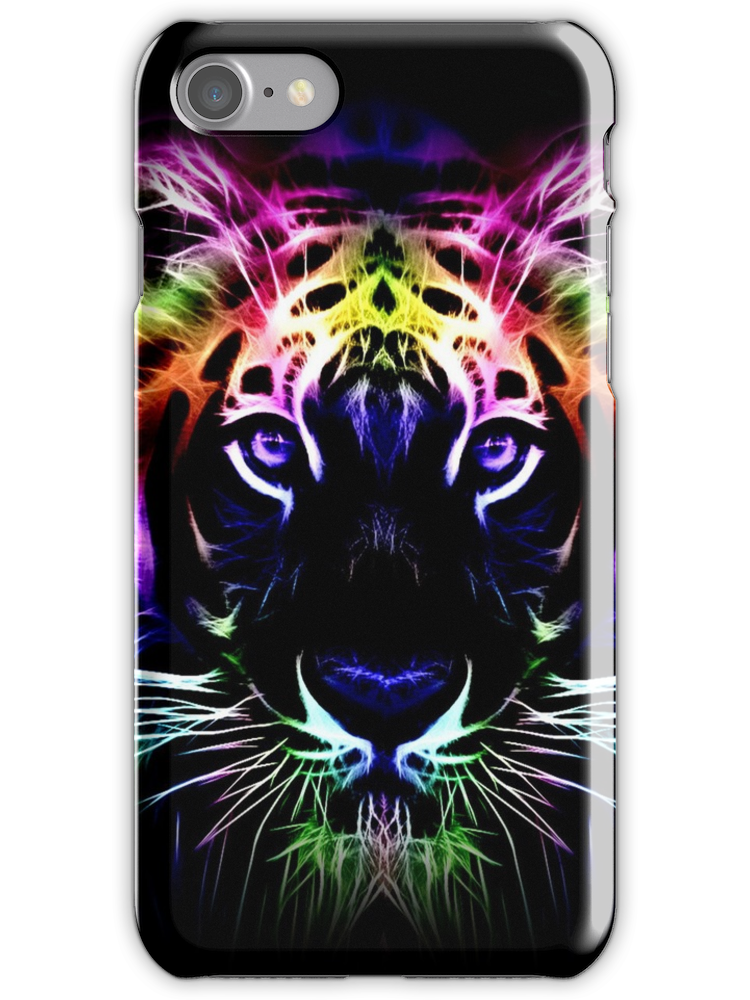 Tiger Neon iPhone 7 Snap Case