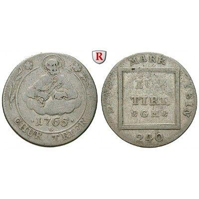 Trier, Bistum, Johann Philipp von Walderdorff, 5 Kreuzer 1765, f.ss: Johann Philipp von Walderdorff 1756-1768. 5 Kreuzer 1765… #coins