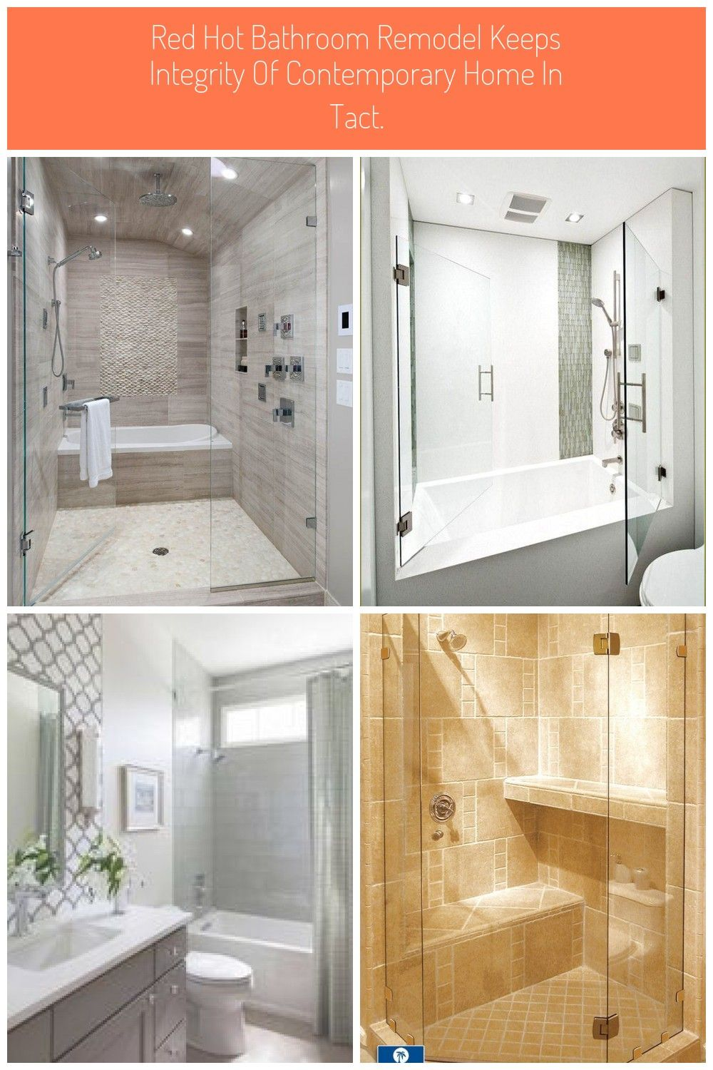 Red Hot Bathroom Remodel Keeps Integrity Of Contemporary Home In Tact In 2020 Badewanne Mit Dusche Badewanne Badezimmer
