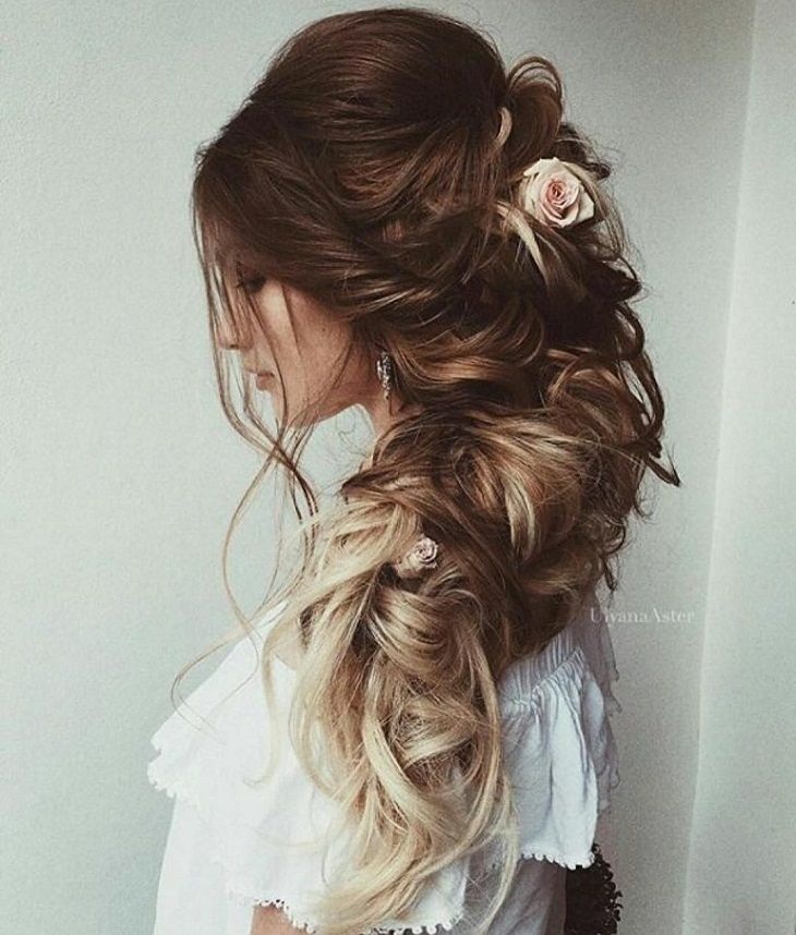 braided updo wedding hairstyle #weddinghair #bridalhair #updos #braidupdos #hairstyles #hair #upstyle #inspiration #pretty