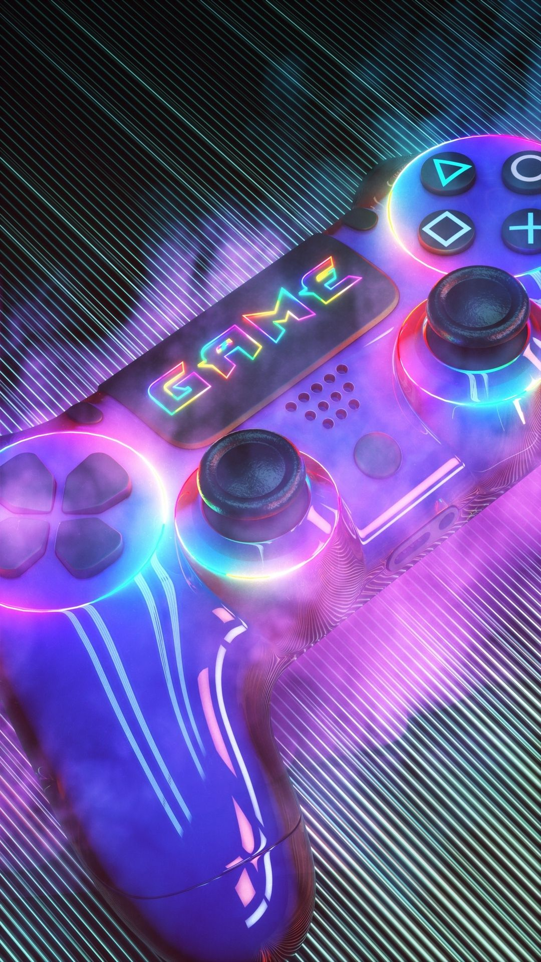Game Controller Iphone X Wallpaper Latar Belakang Game Bintang Jatuh Karya Seni 3d