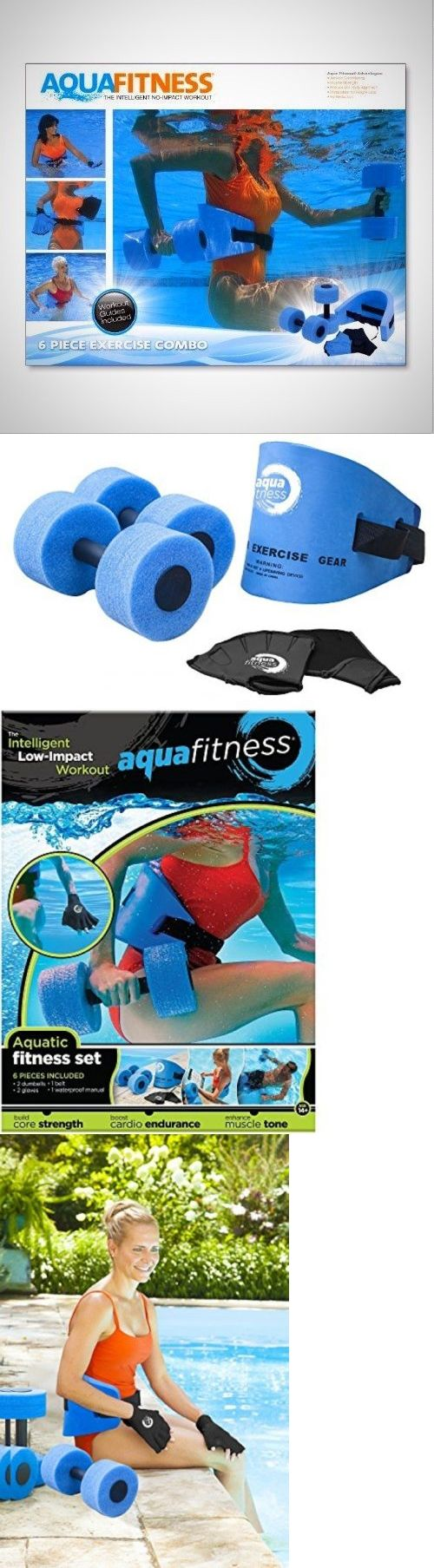 Aquatic Fitness Equipment 158922: Aqua Fitness Exercise Set 6 Piece Water Exercise Aerobic Belt Barbells Pool Gym -> BUY IT NOW ONLY: $35.97 on eBay!