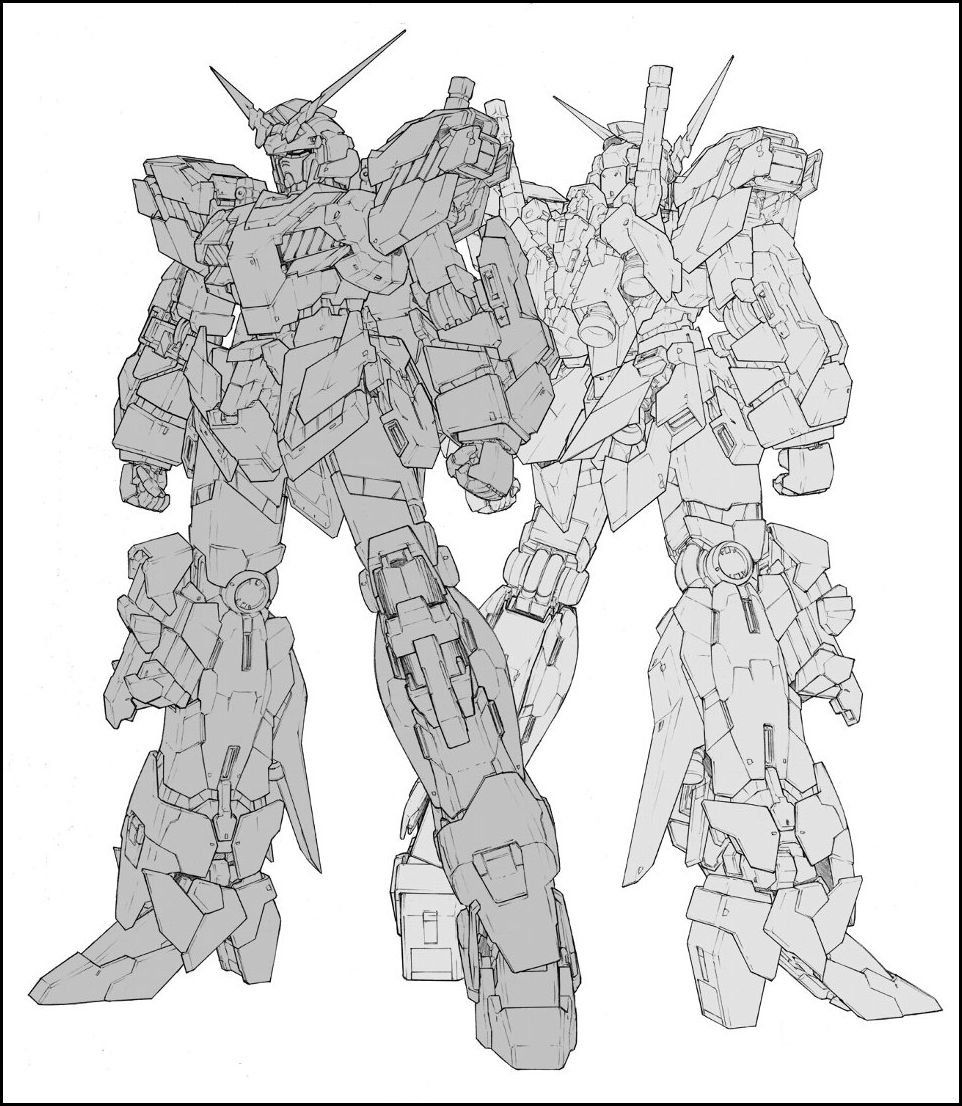 Softbank Creative Mobile Suit Archive Rx 0 Unicorn Gundam Book Preview Images Release Info Gundam Wallpapers Unicorn Gundam Gundam