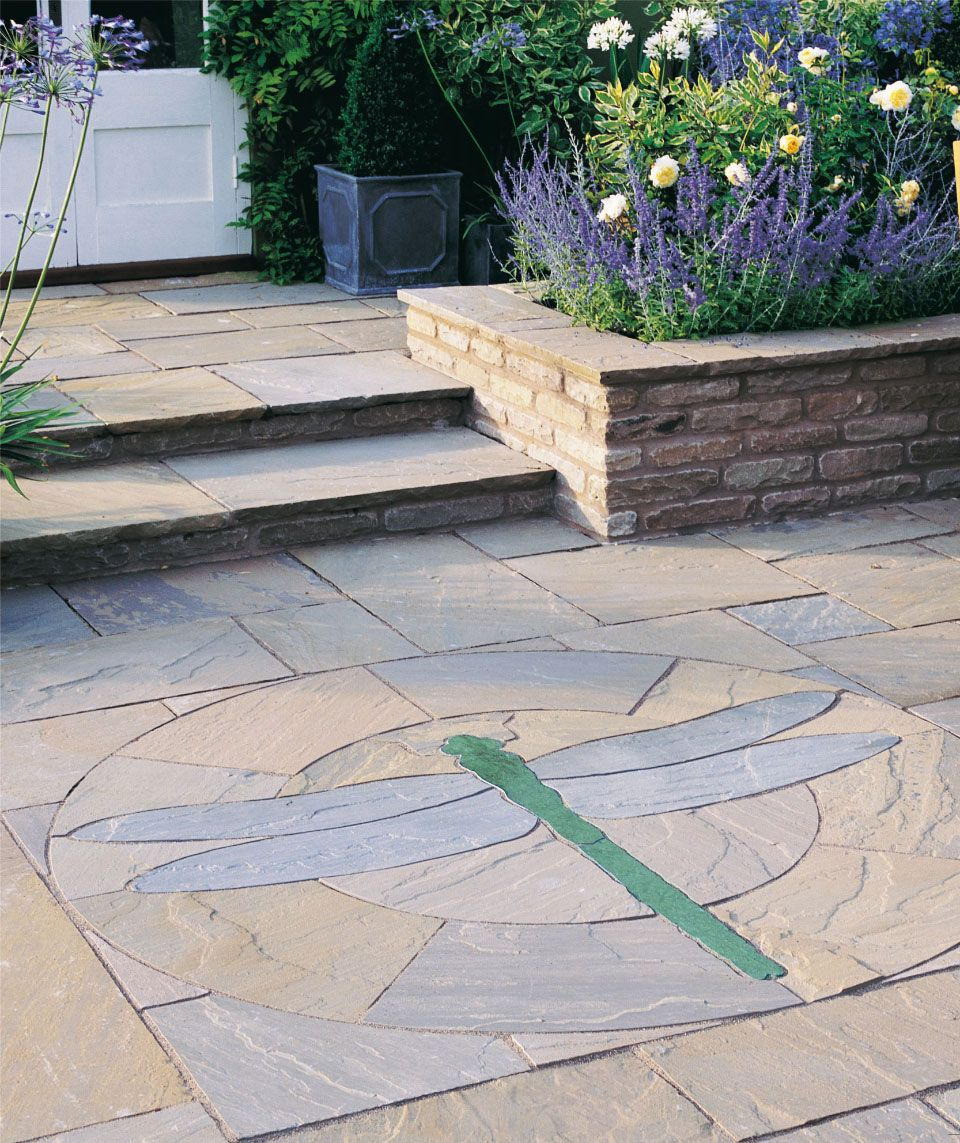 Trustone Fieldland Nautical Star Tortoiseshell Erfly Emperor Dragonfly Patio Paving Features Add A Stunning Focal Point To Your Garden More Online