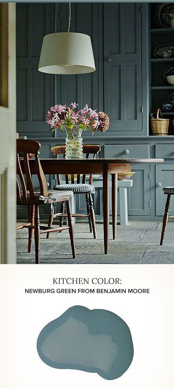 Kitchen Cabinet Paint Color Ideas. Newburg Green Benjamin Moore ...