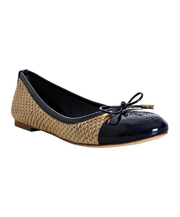 Tory Burch Verbena Straw flats size 6.5 just in at Swap BR! Only $94.99!  VerbenaBlack TrimBaton RougeTory ...