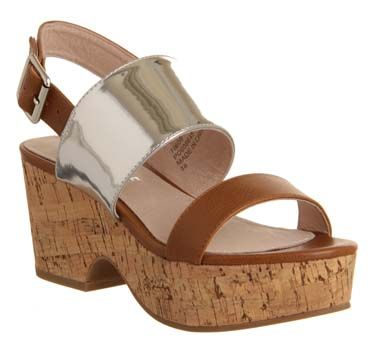Office Ditty Two Part Flatform Tan Silver are now in the sale for £28.00...Seriously it's a must!....x