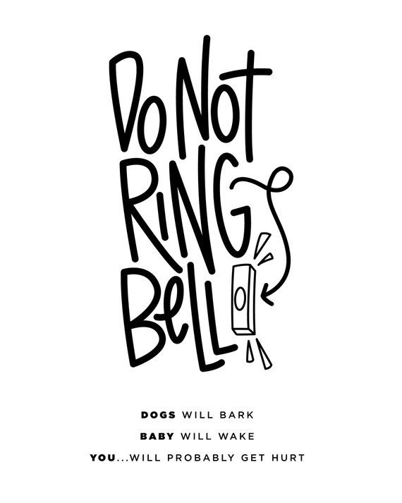 picture regarding Baby Sleeping Sign Printable titled Do Not Ring Doorbell/Youngster Sleeping/Amusing little one sleeping indicator