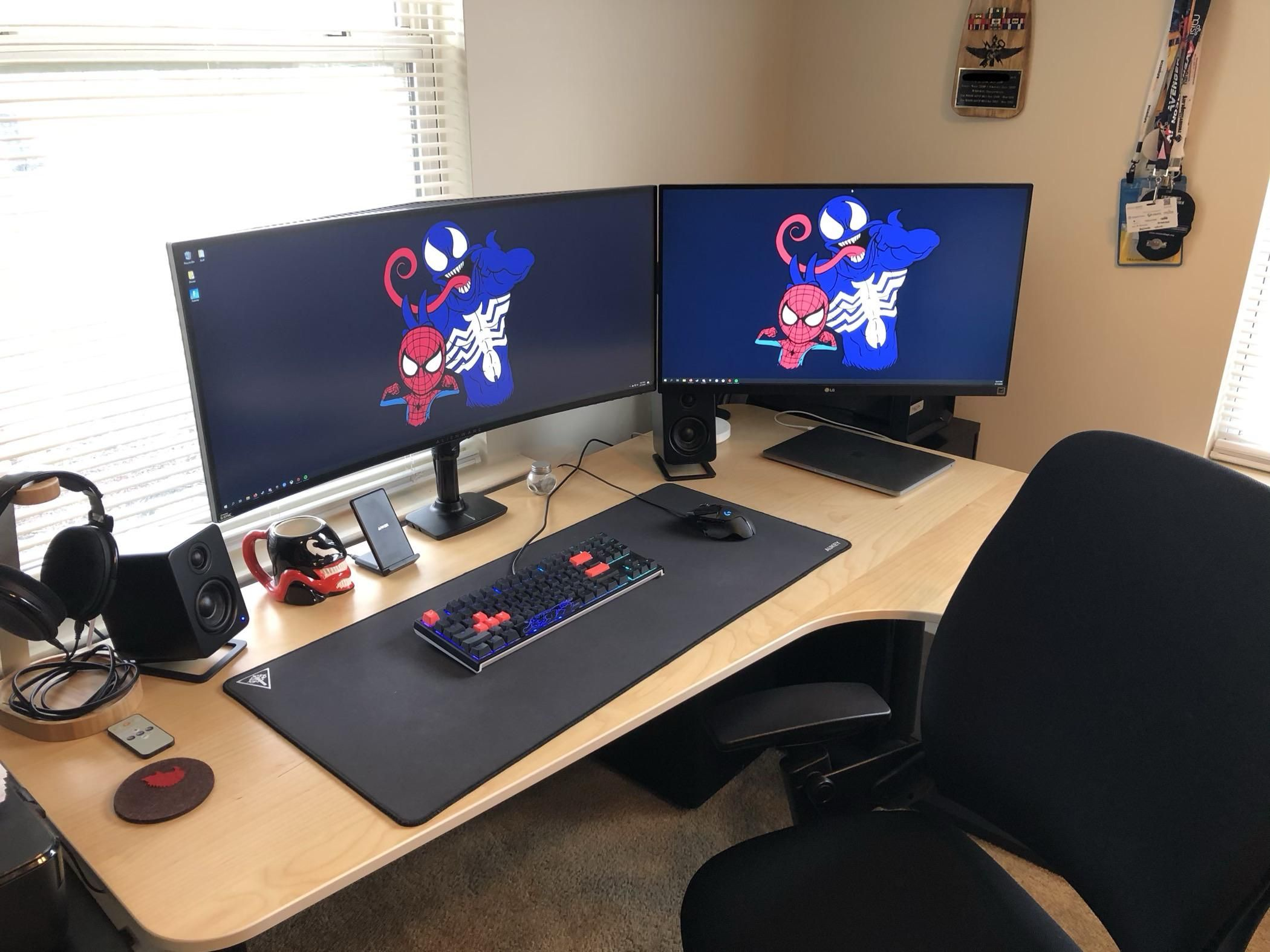 Just A Chill Mostly Neutral Corner Battlestation In 2020 Home