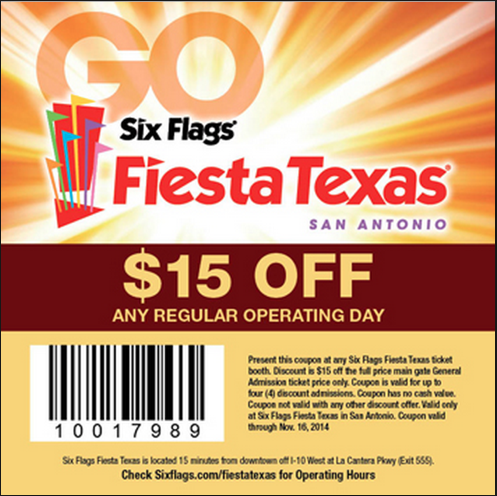 Six Flags Fiesta Texas Six Flags Six Flags Texas Six Flags Over Texas Online Coupons Co En 2020