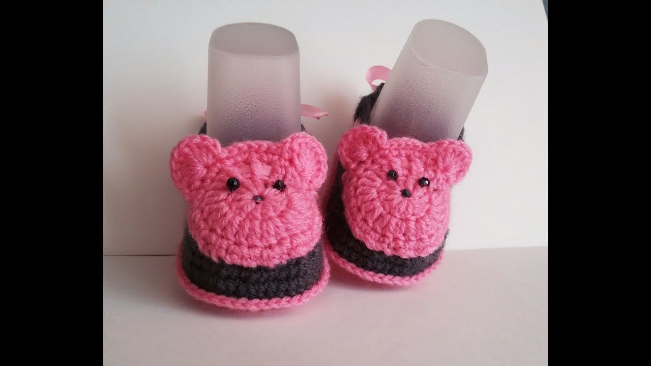 пинетки крючком мишки | zapatitos | Pinterest | Zapatos, Ropa bebe y ...