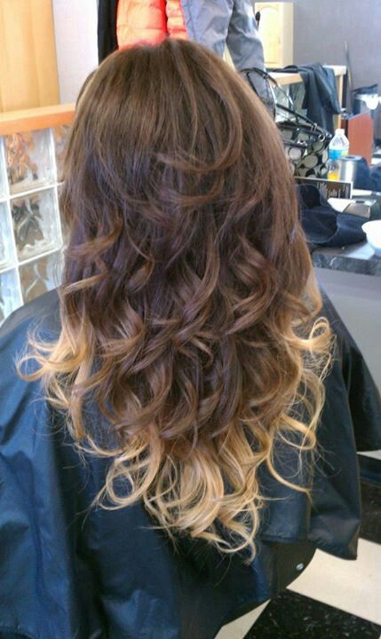 real ombre hair. tips