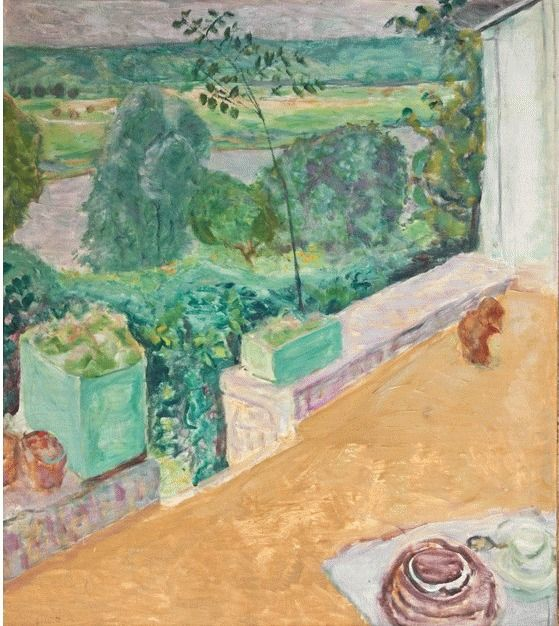 Chien Sur La Terrasse 1917 Pierre Bonnard Pierre Bonnard