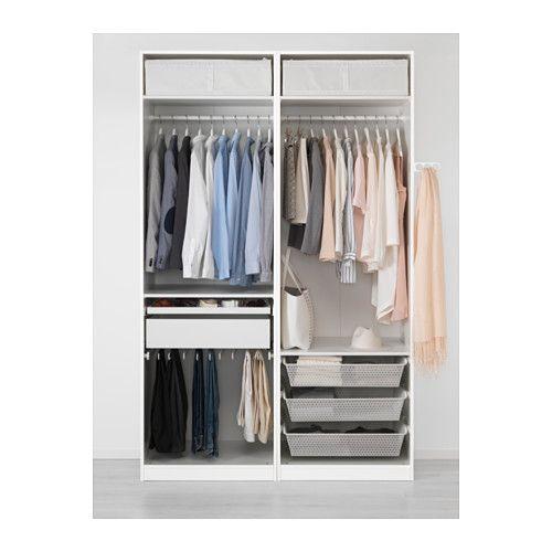 PAX Kleiderschrank, Weiß, Auli Spiegelglas