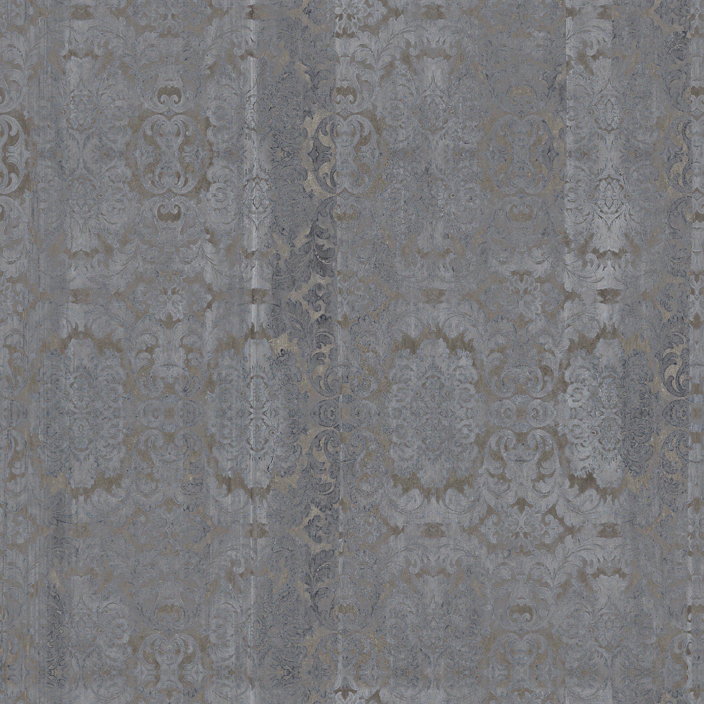 Carta da parati damascata panoramica effetto cemento