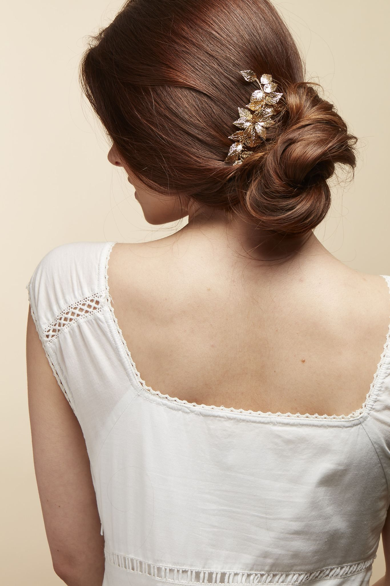 wedding gold leaf hair accessory bridal hair accessories