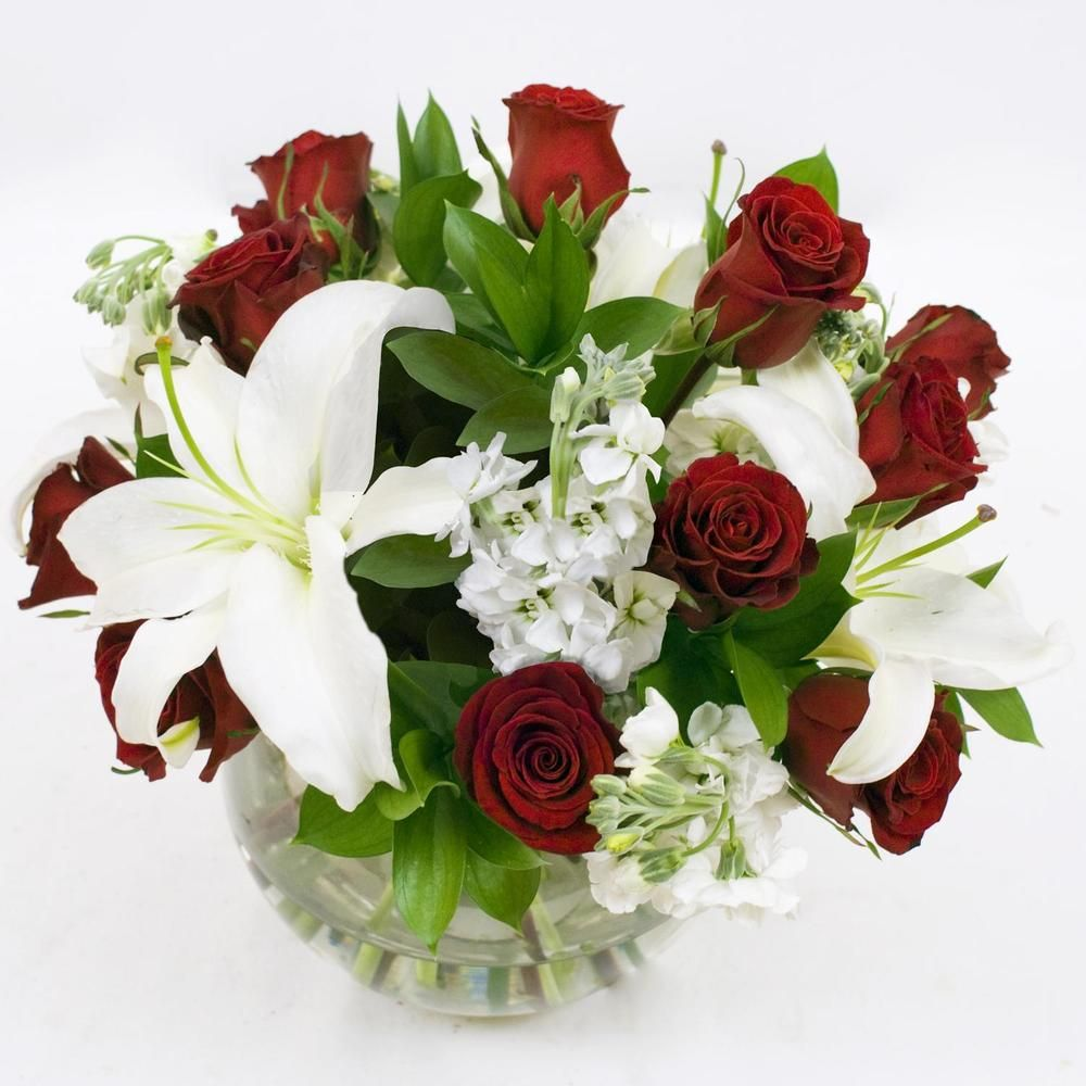 6 Fresh Flower Centerpieces Red And White Shop For Wholesale Bulk