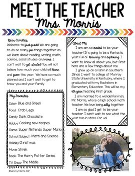 this meet the teacher letter editable template is perfect for introducing yourself to your students and their families they come in 5 different versions