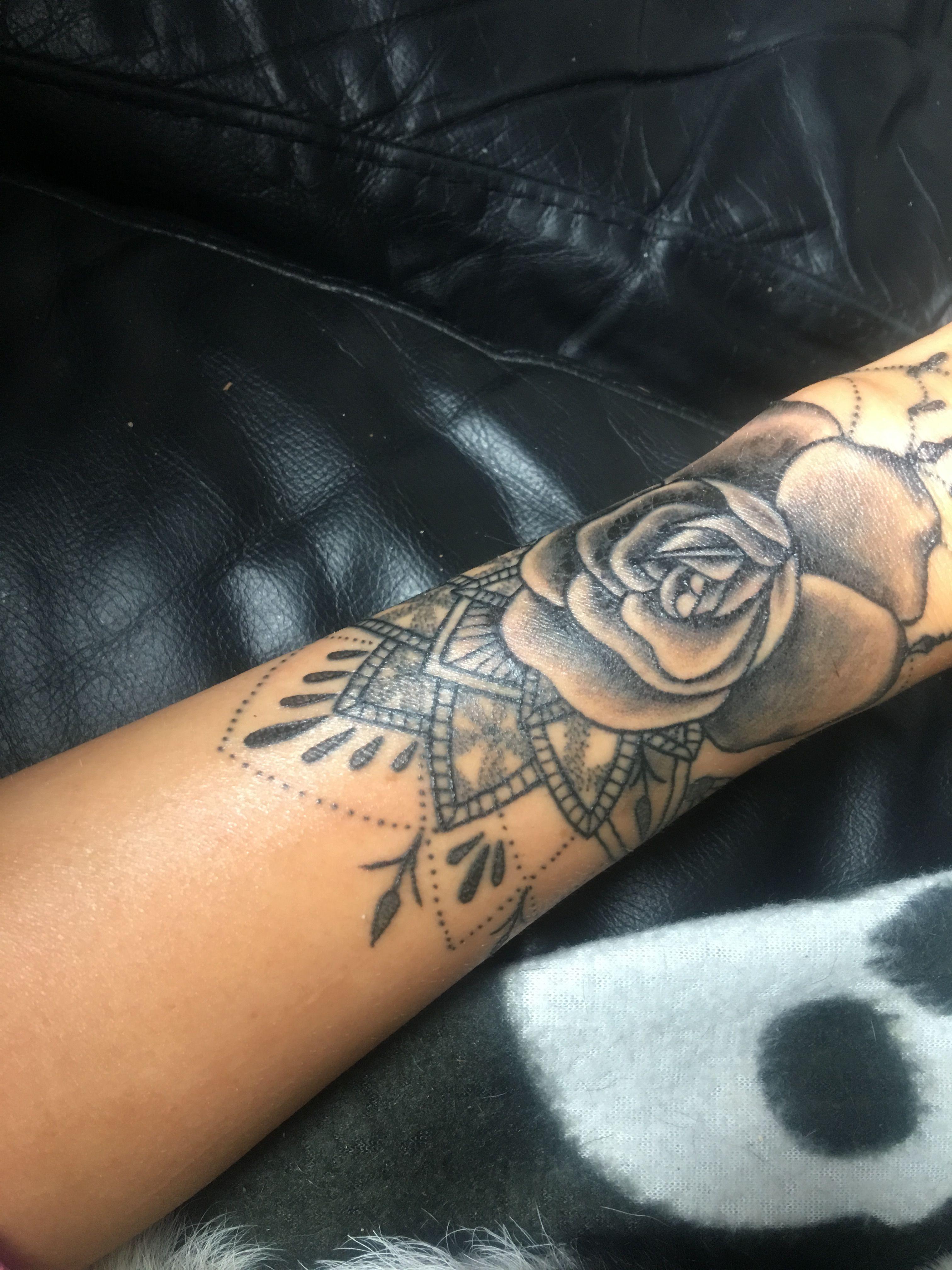Pin by Francisca on Tattoo Flower wrist tattoos, Cuff