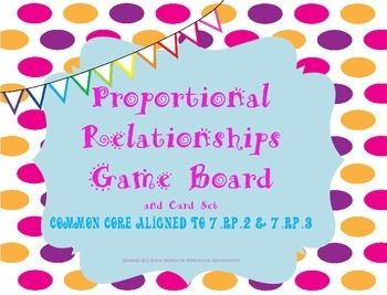 Proportional Relationships Game Board *~Aligned to Common Core 7.RP.2 & 7.RP.3~