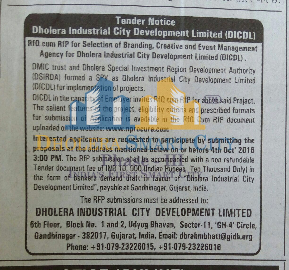 Dholera Industrial City Development Limited (DICDL)