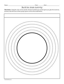 FREE Build an Atom Activity with a Hole Punch and Glue | Moza ...