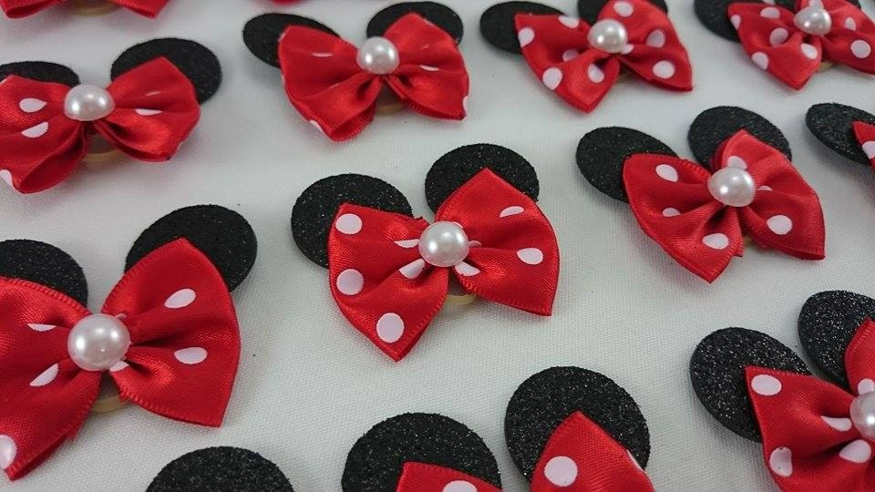 Laços Minnie M Pet Laços Boutique Hair Bows Dog Bows E Ribbon Bows