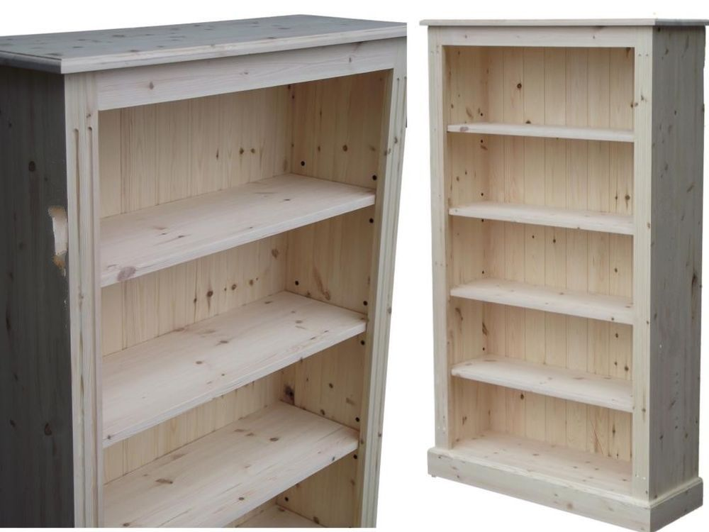 Solid Pine Bookcase 5ft X 3ft Adjustable Display Shelving